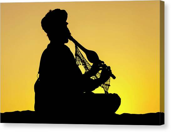 Desert Music, Jaisalmer, India Canvas Print