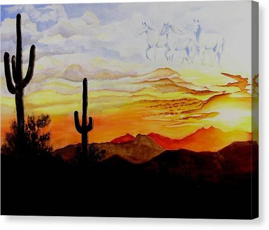 Desert Mustangs Canvas Print