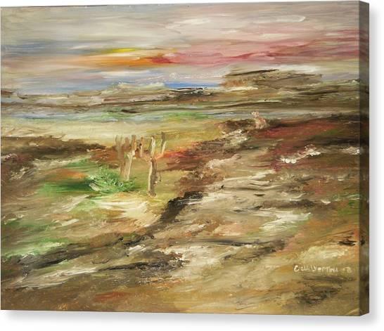 Desert Pass Canvas Print by Edward Wolverton