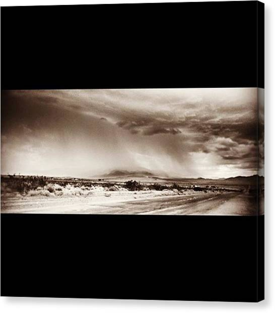 Storms Canvas Print - #desert #rain #storm In Southern by Alex Snay