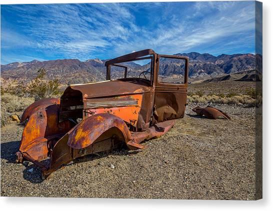 Mojave Desert Canvas Print - Desert Relic by Peter Tellone