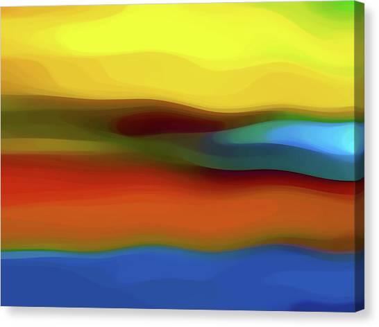 Southwest Canvas Print - Desert River Landscape by Amy Vangsgard