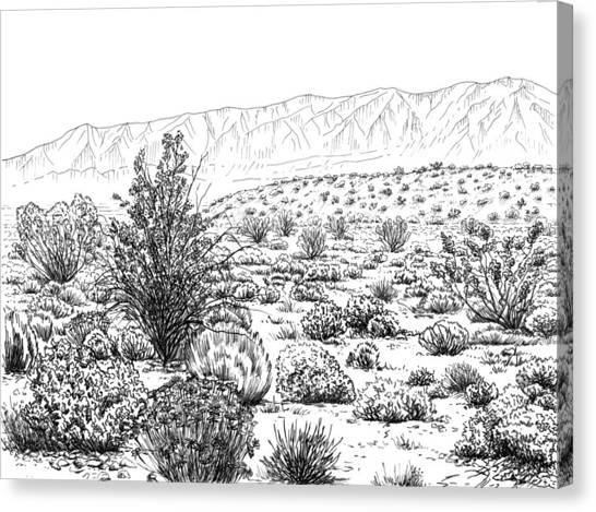 Canvas Print - Desert Scrub Ecosystem by Logan Parsons