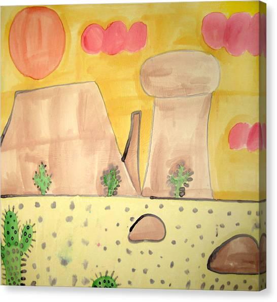 Desert Canvas Print by Sean Cusack