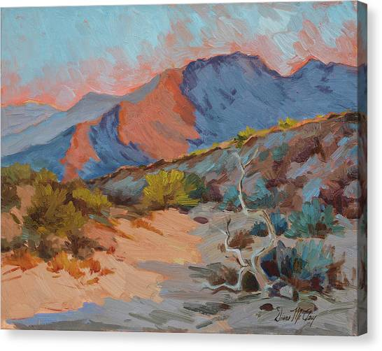 Mojave Desert Canvas Print - Desert Shadows by Diane McClary