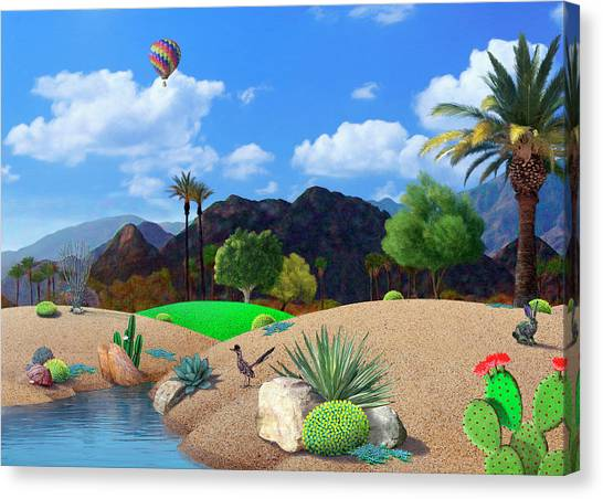 Roadrunner Canvas Print - Desert Splendor by Snake Jagger
