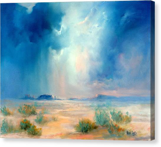 Desert Storm Canvas Print by Sally Seago