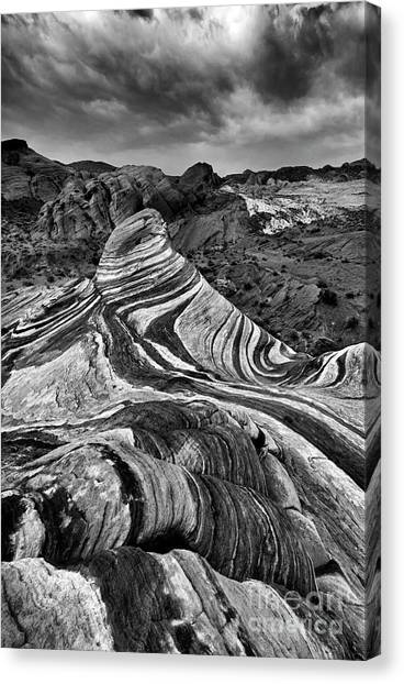Valley Of Fire Canvas Print - Desert Stripes by Mike Dawson
