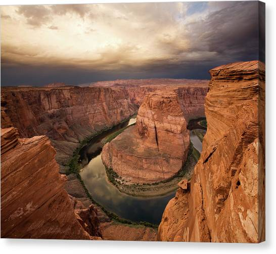 Vertigo Canvas Print - Desert Sunrise At Horseshoe Bend by Matt Tilghman