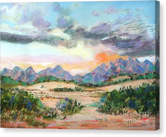 Desert Sunrise Canvas Print by Lucinda  Hansen
