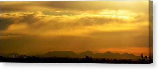 Desert Sunrises Canvas Print - Desert Sunrise Surprise Arizona Photo by Barbara Snyder