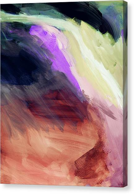 Oasis Canvas Print - Desert Sunset 2- Abstract Art By Linda Woods by Linda Woods