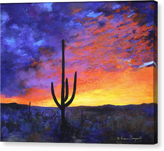 Desert Sunset 4 Canvas Print