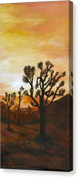 Desert Sunset II Canvas Print by Merle Blair