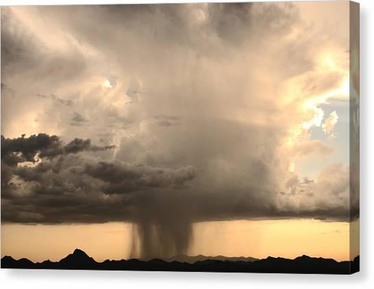 Desert Thunderstorm Canvas Print