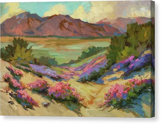 Desert Verbena At Borrego Springs Canvas Print