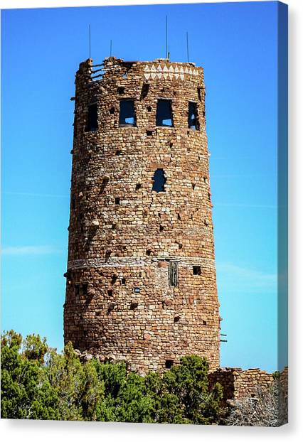 Desert View Watchtower At The Grand Canyon Canvas Print