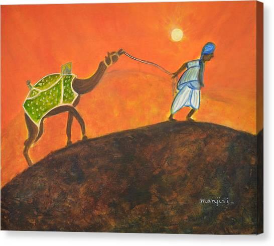 Desert Walk Canvas Print