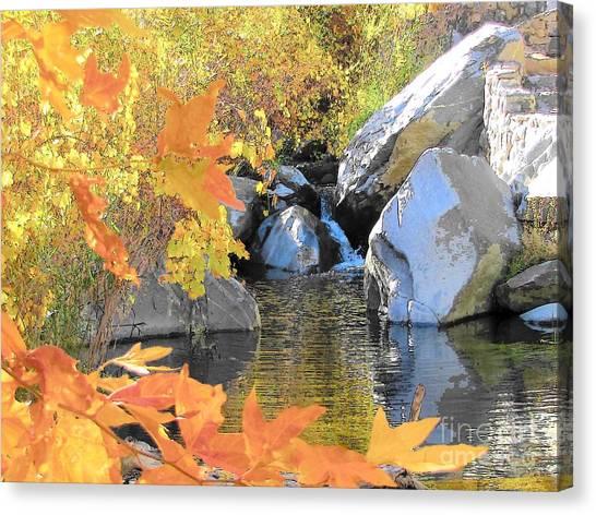 Desert Waterfall Canvas Print