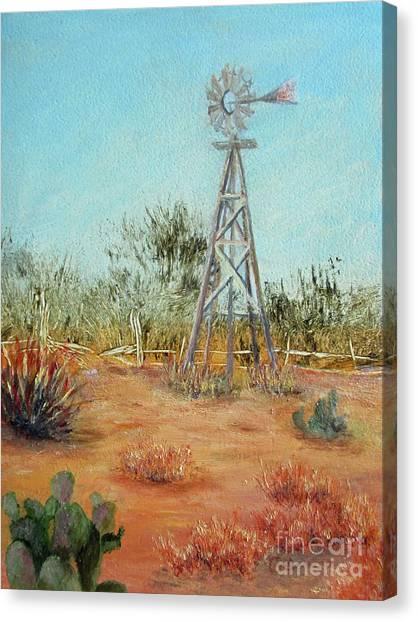Desert Windmill Canvas Print