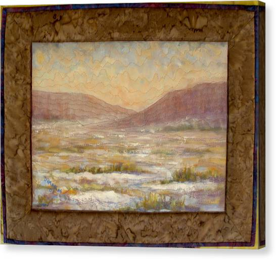 Desert Winter Canvas Print by Diane and Donelli DiMaria
