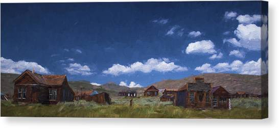 Old Houses Canvas Print - Deserted Bodie II by Jon Glaser