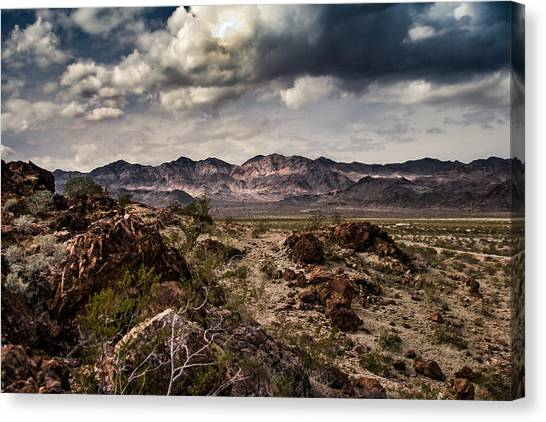 Deserted Red Rock Canyon Canvas Print