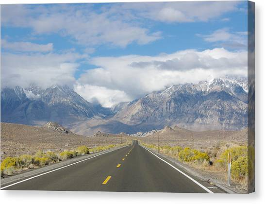 Deserted Road To Mt. Whitney Canvas Print