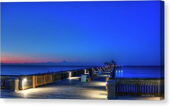 Desert Sunrises Canvas Print - Deserted Sunrise Folly Beach Charleston South Carolina Art by Reid Callaway