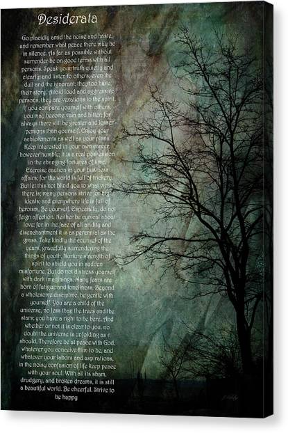 Desiderata Of Happiness - Vintage Art By Jordan Blackstone Canvas Print