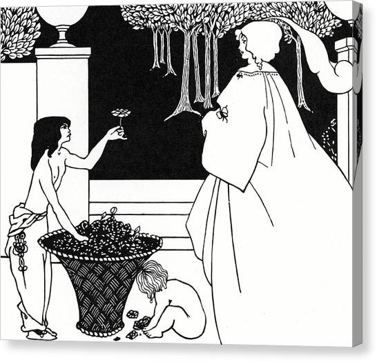 Fruit Baskets Canvas Print - Design For The Yellow Book by Aubrey Beardsley