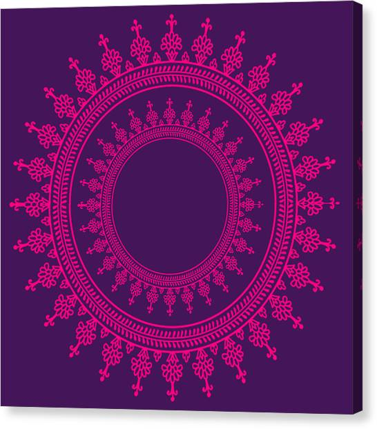 Mandala Canvas Print - Design In Pink by Art Spectrum