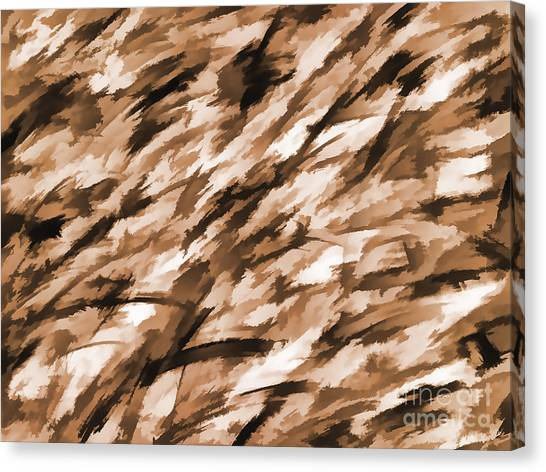 Blue Camo Canvas Print - Designer Camo In Beige by Bruce Stanfield