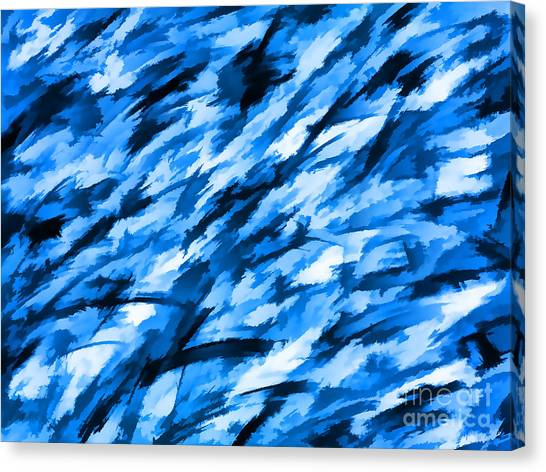 Blue Camo Canvas Print - Designer Camo In Blue by Bruce Stanfield