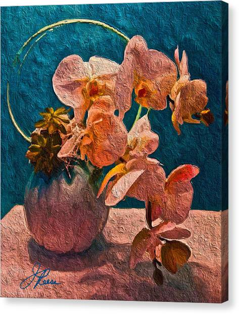 Designer Floral Arrangement Canvas Print
