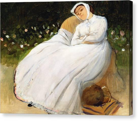 Edgar Degas Canvas Print - Desiree Musson by Edgar Degas