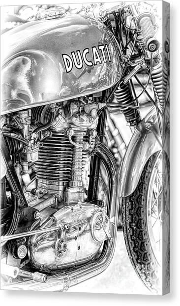 Ducati Canvas Print - Desmo Mk 3 by Tim Gainey