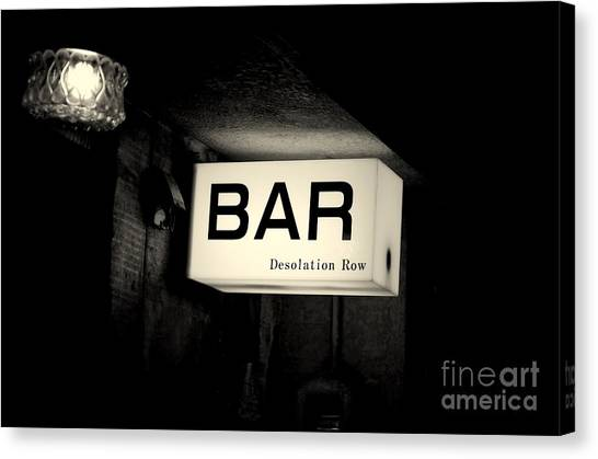 Drunk Canvas Print - Desolation Row by Dean Harte