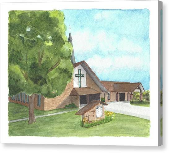 De Soto Baptist Church Canvas Print