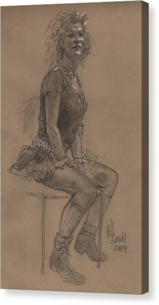Desperately Seeking Dr Sketchy Canvas Print by Will Brown