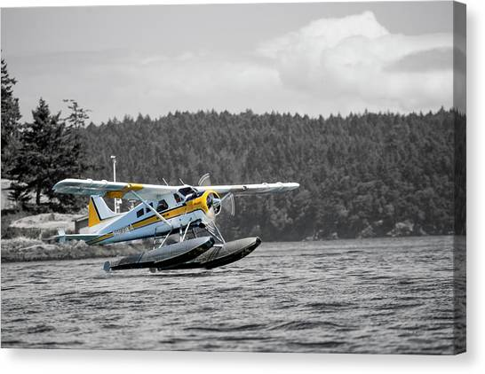 Pontoon Canvas Print - Destination Friday Harbor by Betsy Knapp