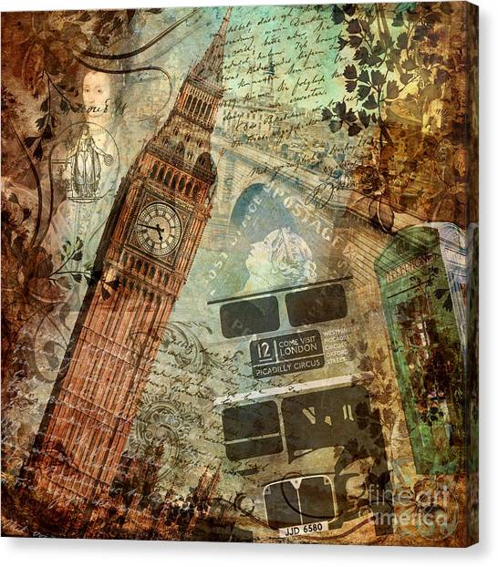 Tower Of London Canvas Print - Destination London by Mindy Sommers