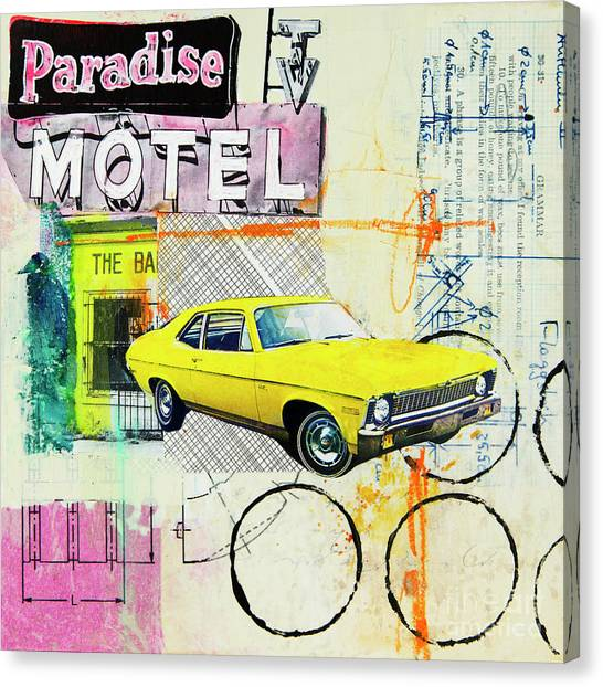 Automobiles Canvas Print - Destination Paradise by Elena Nosyreva