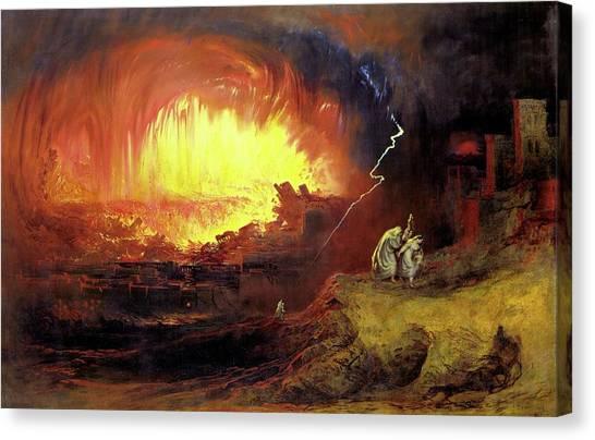 Destruction Of Sodom And Gomorah Canvas Print