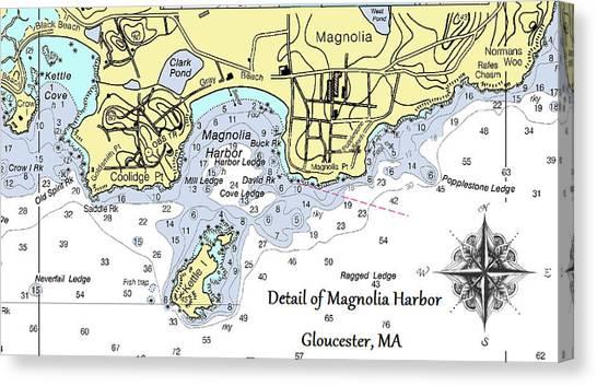Detail Of Magnolia Harbor Canvas Print