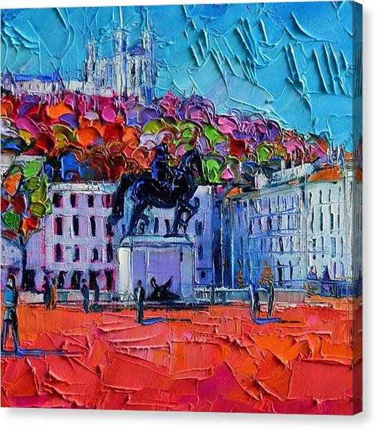 Impressionism Canvas Print - Detail Of Urban Impression - Place by Mona Edulesco