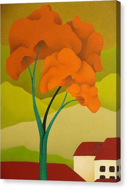 Detailed  Landscape 2009 Canvas Print by S A C H A -  Circulism Technique
