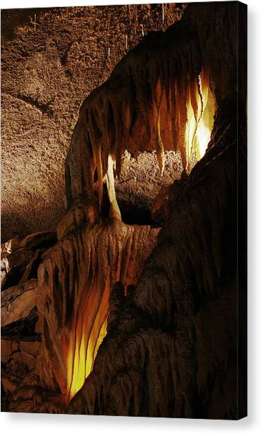 Mammoth Cave Canvas Print - Details Frozen Niagara by Brian M Lumley
