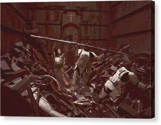 Han Solo Canvas Print - Garbage Compactor 3263827 by Kurt Ramschissel