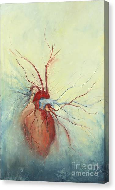Heart Canvas Print - Determination by Priscilla  Jo